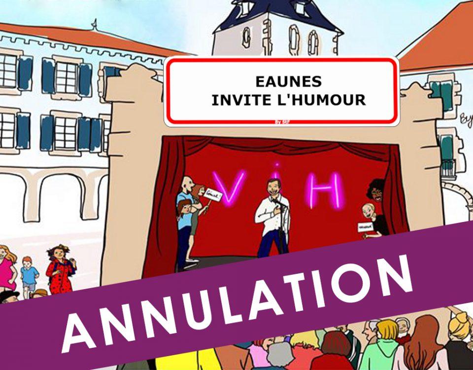 Annulation Eaunes invite l'humour